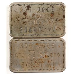 Rectangular Token Reverse Dies  (84668)