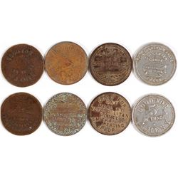Four Unidentified Billiard Tokens  (77732)