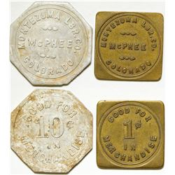 Colorado Lumber Tokens (2)  (87127)
