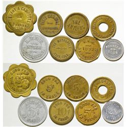 Colorado Mining Town Tokens (8)  (87129)