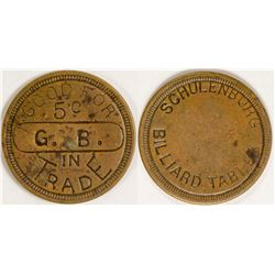 Schulenburg Billiard Tables Token  (77724)