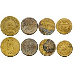 Four Montana Tokens  (88867)
