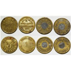 Four Montana Tokens  (88869)