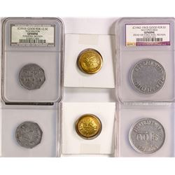Nevada Tokens and Air National Guard Button  (77713)