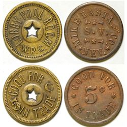 Two Scarce Nevada Tokens  (87308)