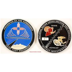 89 Challenge Coins for 781st Test Squadron  (88642)