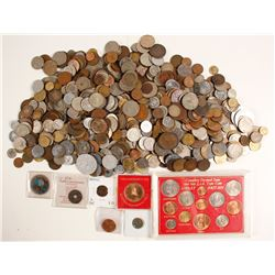Large Group of Foreign Coins (Mostly post-1900)  (74001)