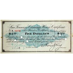 San Francisco Clearing House Certificate  (61934)