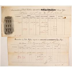 Kellogg & Humbert, Two Different Bullion Assay Forms  (88841)