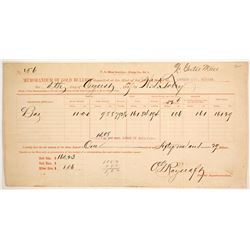 Carson City Mint Bullion receipt  (88840)