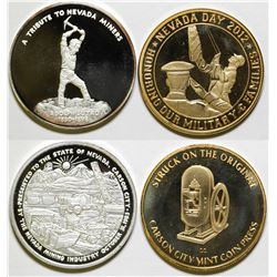 Two Carson City Mint Tribute So-Called Silver Dollars: Sutro and Nevada Military  (99659)