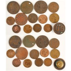 Fugio Cent, Massachusetts Cent and Civil War Tokens  (88807)