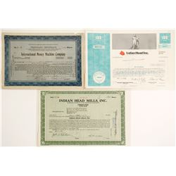 Three Stock Certificates with Coin Themes  (60047)