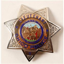 Chico, CA Police Lt. Badge  (88375)