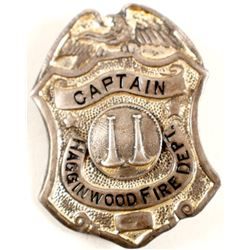 Hagginwood, CA Fire Captain Badge  (88333)