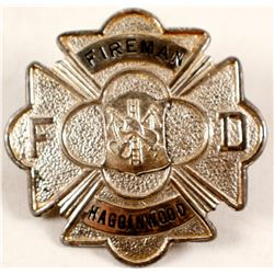 Hagginwood, CA Fireman Badge  (88332)
