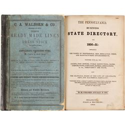 The Pennsylvania Business State Directory for 1850-51  (82961)