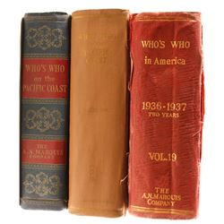 3 Volumes of Who's Who Directories  (81174)