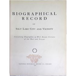 Biographical Record of Salt Lake City & Vicinity  (85878)