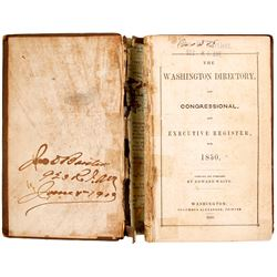 The Washington Directory and Congressional and Executive Register  (80260)