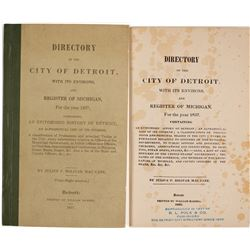 Directory of the City of Detroit and a Register of Michigan for 1837  (82827)