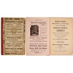 Lebanon, Hanover, and Enfield, NH Directory, 1907  (82840)