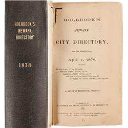 Holbrook's Newark City Directory, 1878  (82854)