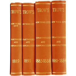 Trow's Corporation Directories for the 1880's.  (81145)