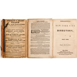 Doggett's New York City Directory for 1849-1850  (82873)