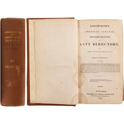 Longworth's American Almanac, New-York Register, and City Directory, 1832  (82870)