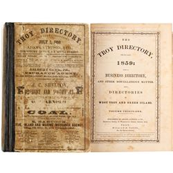The Troy [New York] Directory, 1859  (82948)