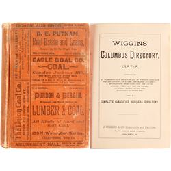Wiggins' Columbus Directory 1887-8  (82952)