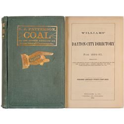 Williams' Dayton City Directory for 1884-85  (82951)