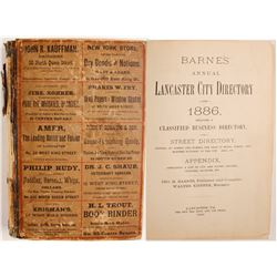 Barnes' Annual Lancaster City Directory for 1886  (82977)