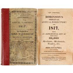 Robinson's Original Annual Directory for Philadelphia, 1817  (82955)