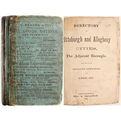 Directory of Pittsburgh and Allegheny Cities, 1868-69   (82964)