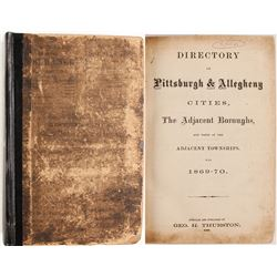 Directory of Pittsburgh and Allegheny Cities, 1869-70  (82971)