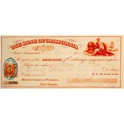 Bank of California Duplicate of Exchange  (61662)