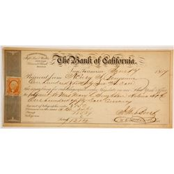 Rare Bank of California 1867 Telegraphic Order  (61240)
