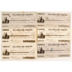 Early Weaverville Checks (6)  (87452)
