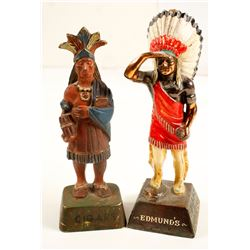Metal Small Cigar Store Indians  (87425)