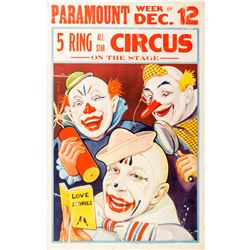 "Paramount ""5 Ring Circus"" Broadside  (49721)"