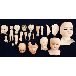 Doll Heads & Assorted Doll Parts / 19 items  (78844)
