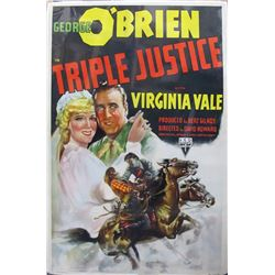Triple Justice 1940 Movie Poster  (56428)