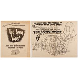 The Long Night Movie Premier Booklet  (88325)