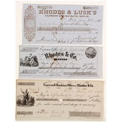 3 different Rhodes checks involving Shasta Bankers  (87458)
