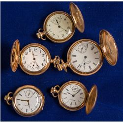5 Gold Ladies Pocket Watches  (58232)
