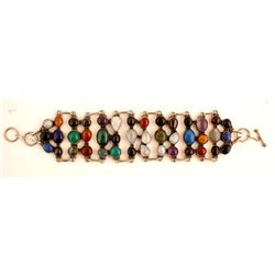 Bracelet (Cabochon Cut Stones in Silver)  (88507)