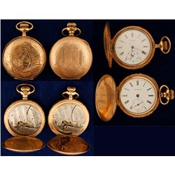 Lady's Waltham Pocket Watches hunter case (2 count)  (58828)