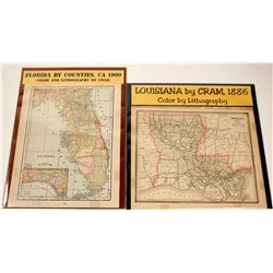 Florida by Counties & Louisiana Maps (2)  (62069)